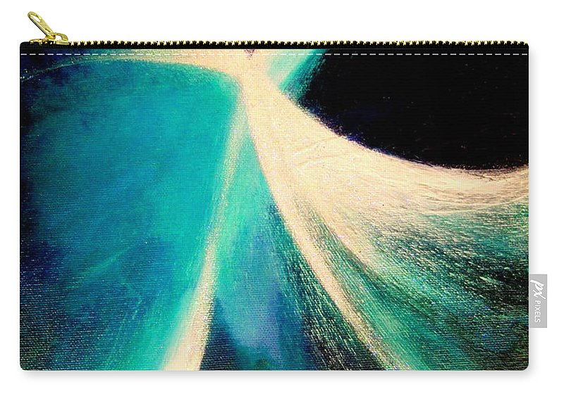 Circulation.light.into Sea.birth.earth.moment.spiritual. Carry-all Pouch featuring the painting Circulation by Kumiko Mayer