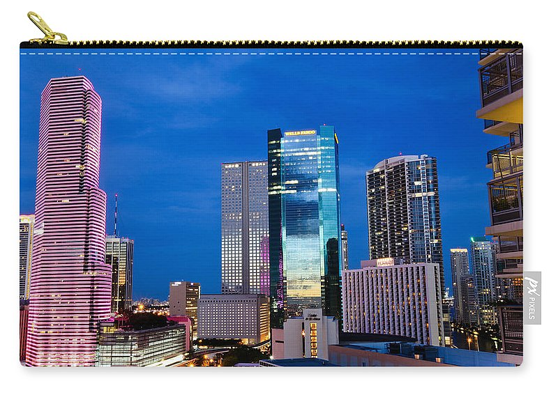 City Carry-all Pouch featuring the digital art City by Dorothy Binder