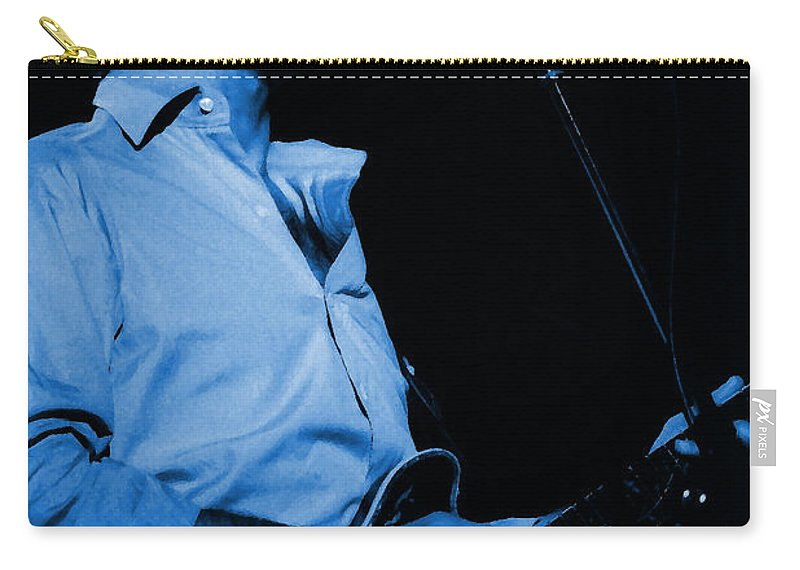 Bob Weir Carry-all Pouch featuring the photograph #7 Enhanced In Blue by Ben Upham