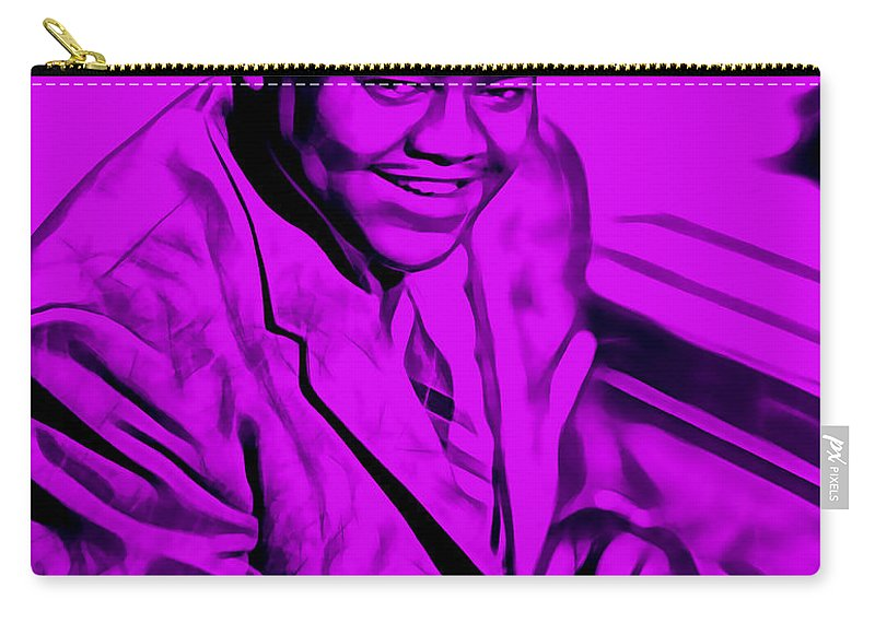 Fats Domino Carry-all Pouch featuring the mixed media Fats Domino Collection by Marvin Blaine