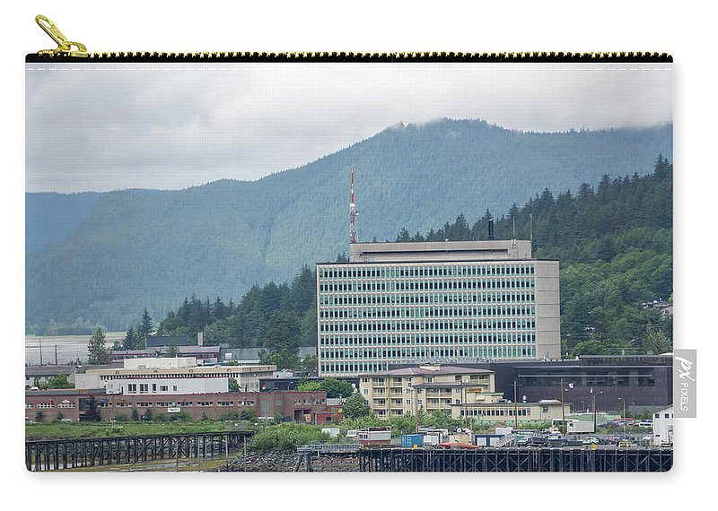Day Carry-all Pouch featuring the photograph Juneau Alaska Usa Northern Town And Scenery by Alex Grichenko