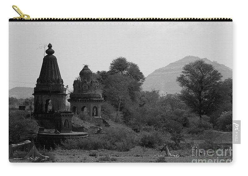 Mahuli Carry-all Pouch featuring the photograph Mahuli Village by Kiran Joshi