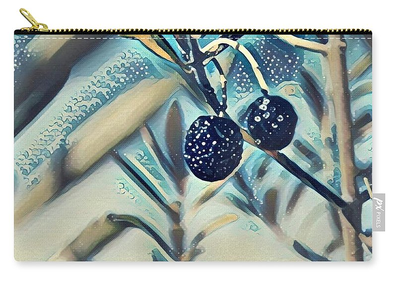 Carry-all Pouch featuring the digital art Olives by Melinda Sullivan Image and Design
