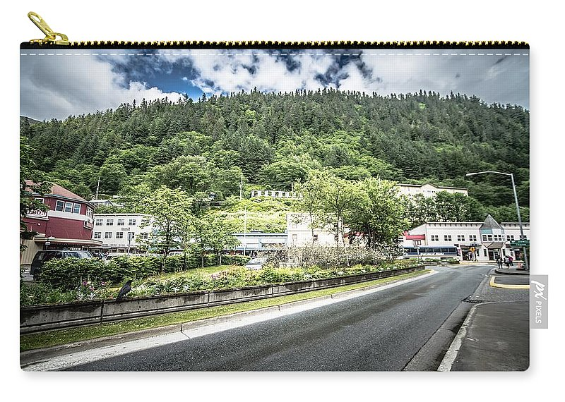 Harbor Carry-all Pouch featuring the photograph Port Of Juneau Alaska And Street Scenes by Alex Grichenko