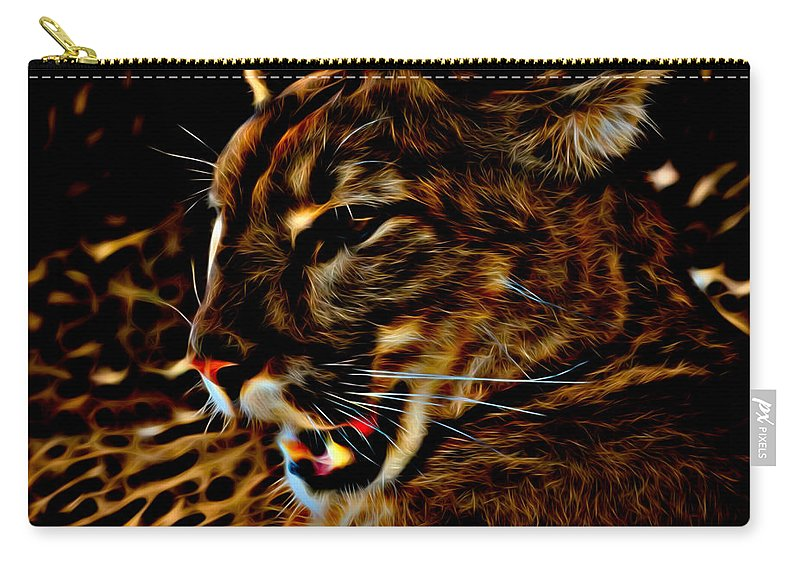 Puma Carry-all Pouch featuring the photograph Puma by David Pine