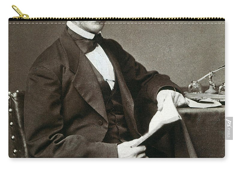 1873 Carry-all Pouch featuring the photograph Ralph Waldo Emerson by Granger