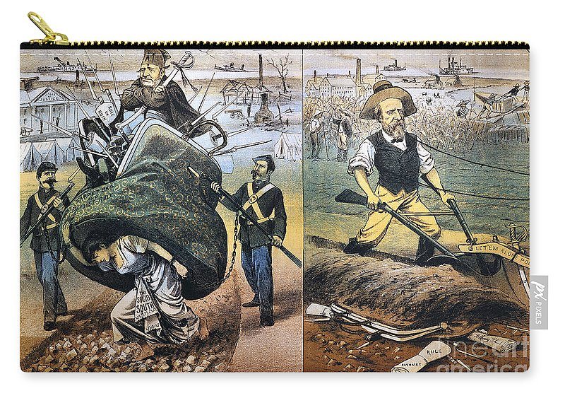 1880 Carry-all Pouch featuring the photograph Reconstruction Cartoon by Granger