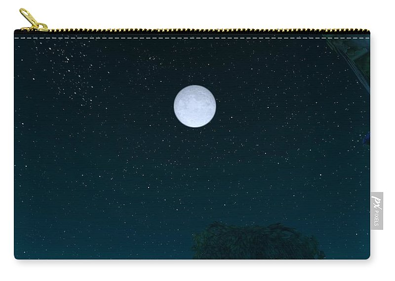 Sky Carry-all Pouch featuring the digital art Sky by Mery Moon