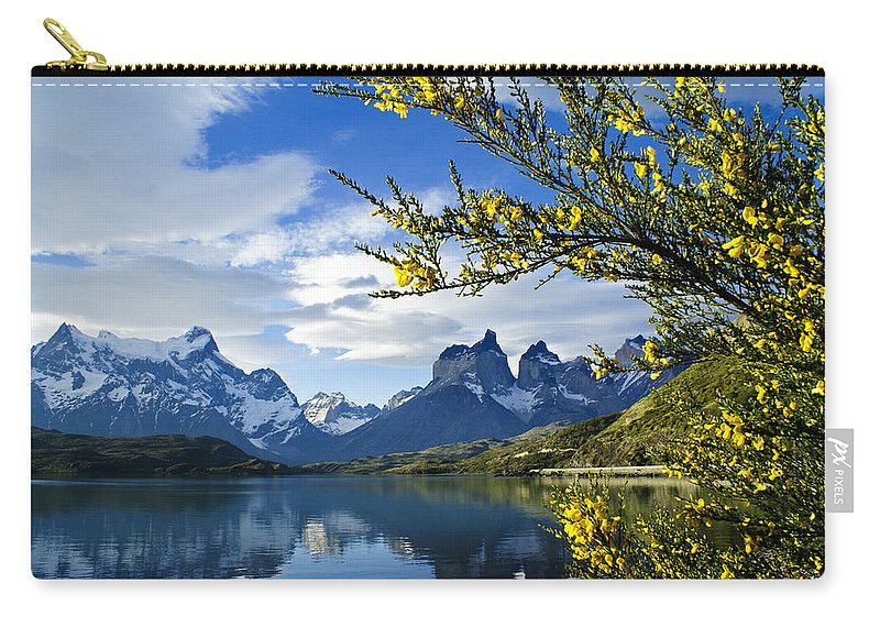 Patagonia Carry-all Pouch featuring the photograph Springtime in Torres del Paine by Michele Burgess