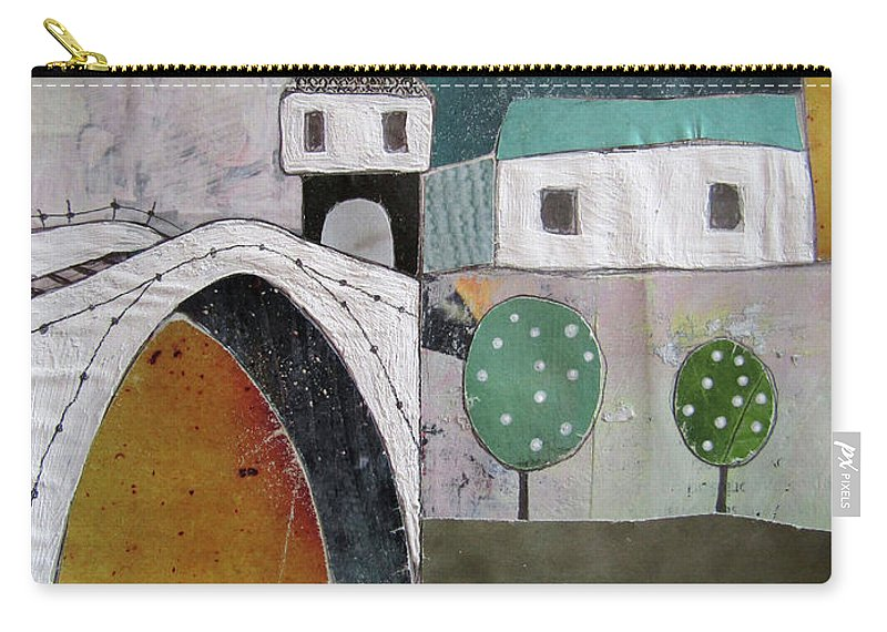 Mostar Carry-all Pouch featuring the painting Stari Most, Mostar by Emir Kevelj