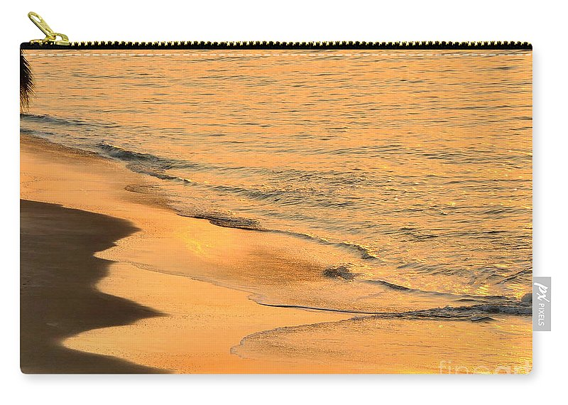 Night Time In Panama Carry-all Pouch featuring the photograph Waiting For The Wave In Sepia by Aline Halle-Gilbert