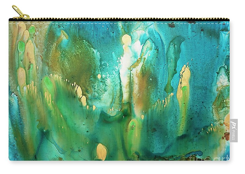 Abstract Carry-all Pouch featuring the painting Untitled by Angelina Cornidez