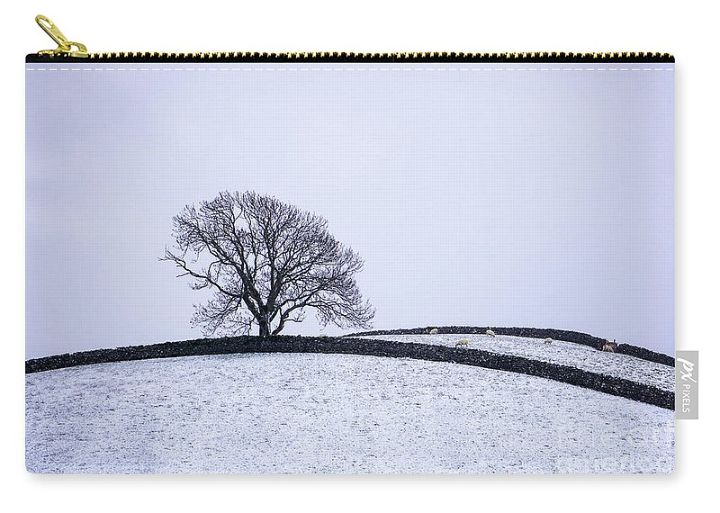 Landscape Carry-all Pouch featuring the photograph Winter In Wensleydale by Carol Herbert