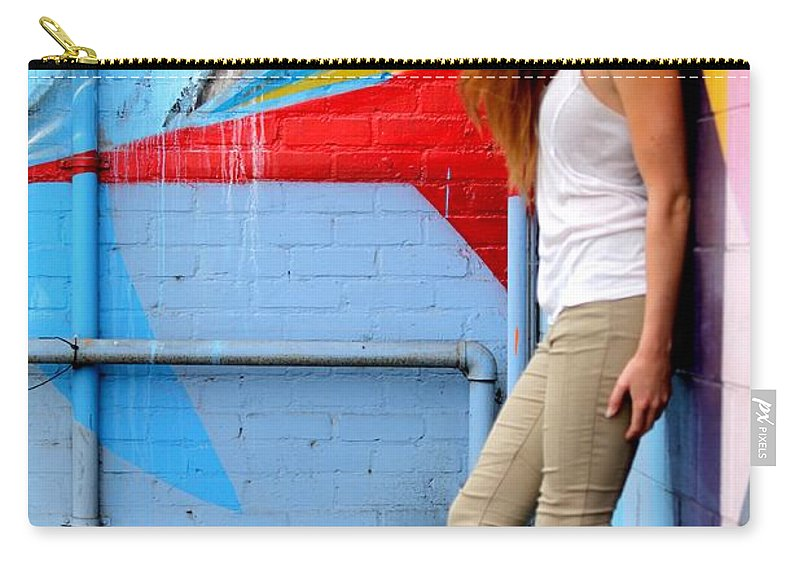 Female Carry-all Pouch featuring the photograph Young Woman by Henrik Lehnerer
