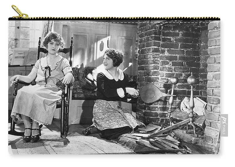 -housework & Cooking- Carry-all Pouch featuring the photograph Silent Film Still by Granger