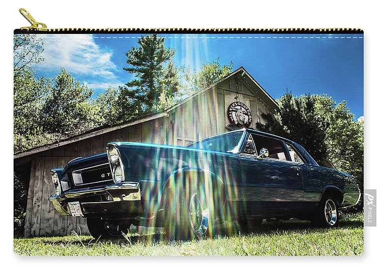 Lemans Carry-all Pouch featuring the photograph Classic Cars by Mickie Bettez