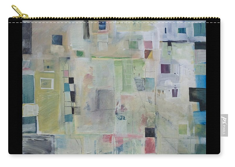Abstract Carry-all Pouch featuring the painting 7am In The City That Doesn by Tim Nyberg