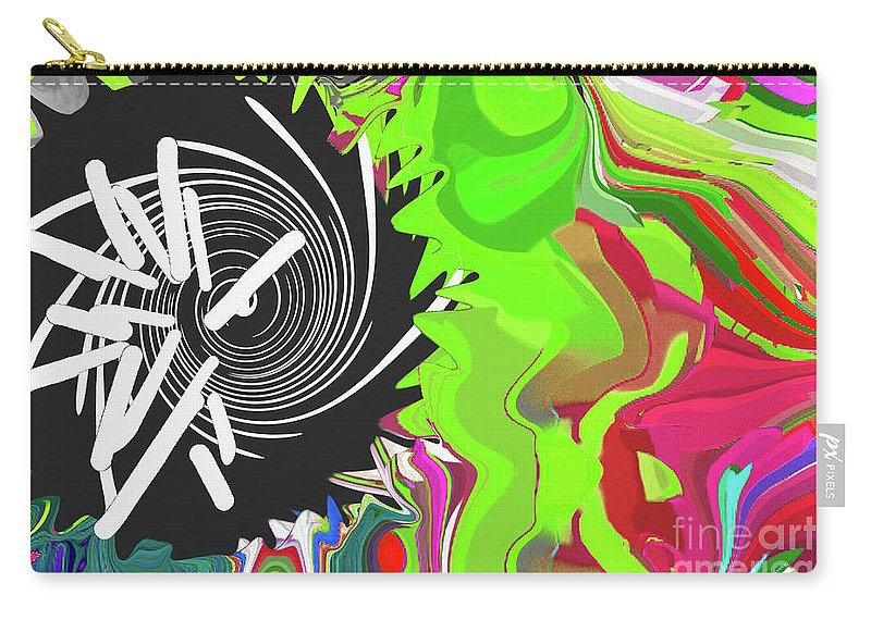 Walter Paul Bebirian Carry-all Pouch featuring the digital art 8-11-2015c by Walter Paul Bebirian