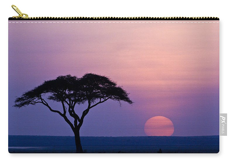 Africa Carry-all Pouch featuring the photograph African Sunrise by Michele Burgess