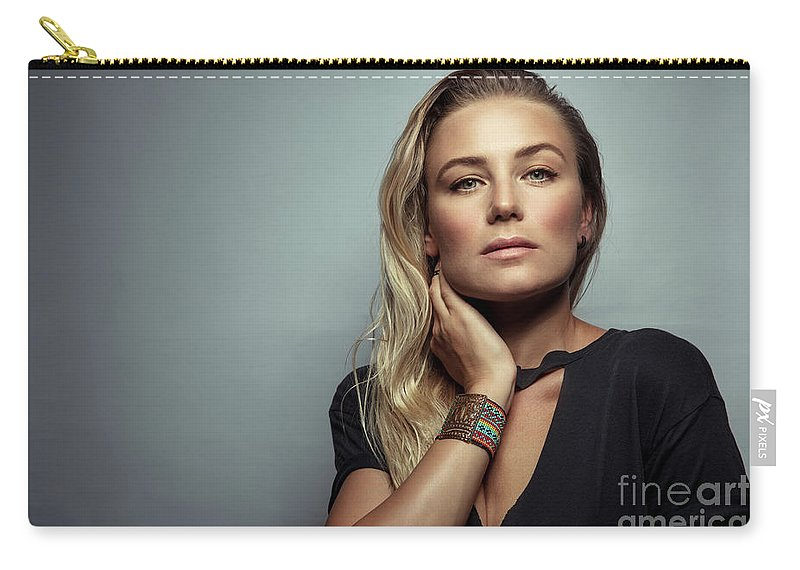 Adult Carry-all Pouch featuring the photograph Beautiful Woman Portrait by Anna Om