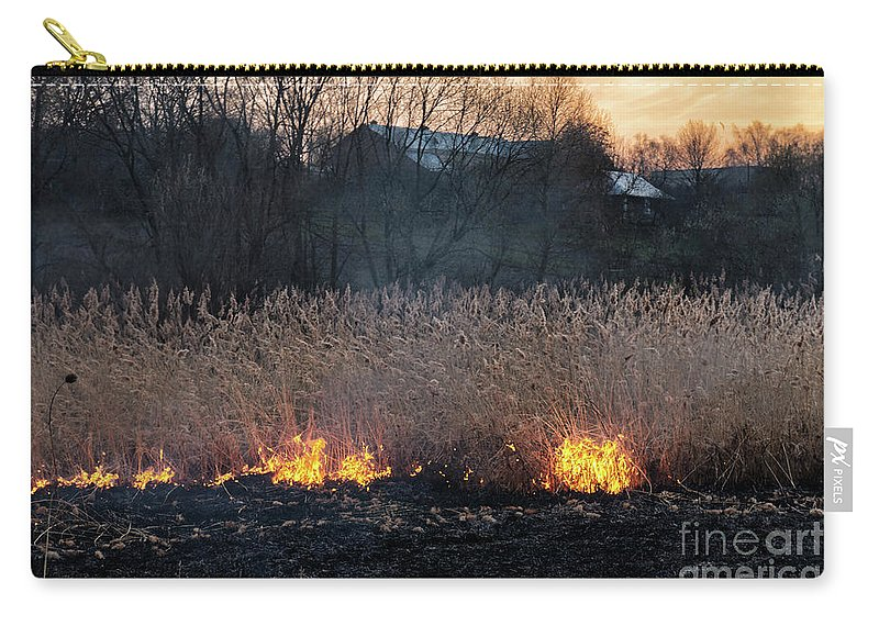 Nature Carry-all Pouch featuring the photograph Fires Sunset Landscape by Oleksandr Masnyi