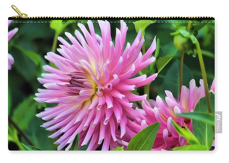 Floral Carry-all Pouch featuring the photograph Frilly by Joyce Baldassarre