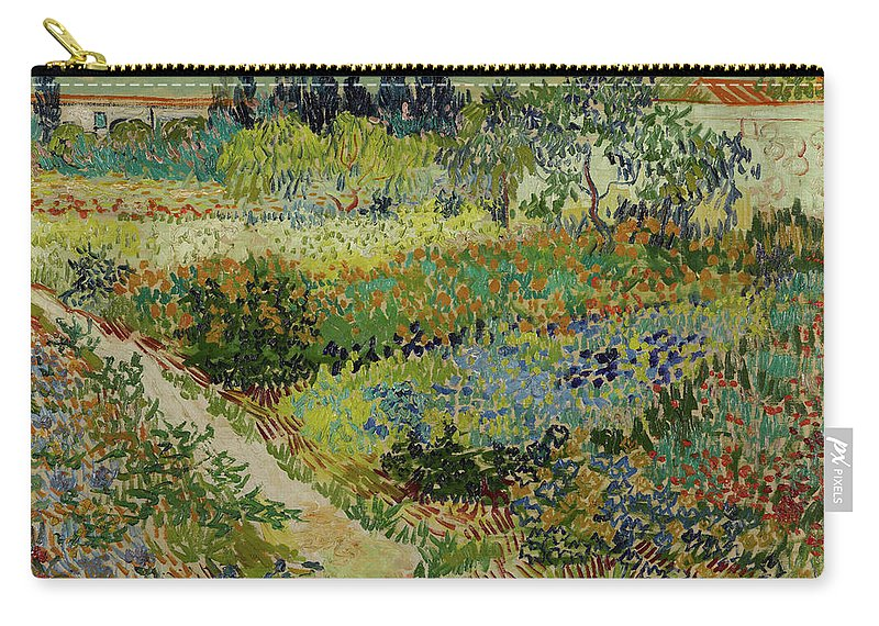 Vincent Van Gogh Carry-all Pouch featuring the painting Garden At Arles by Vincent van Gogh