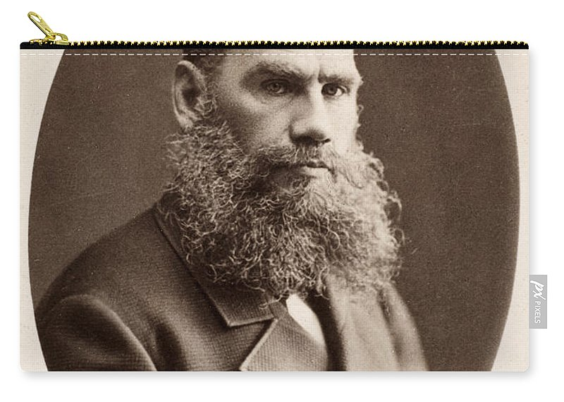 1868 Carry-all Pouch featuring the photograph Leo Tolstoy (1828-1910) by Granger