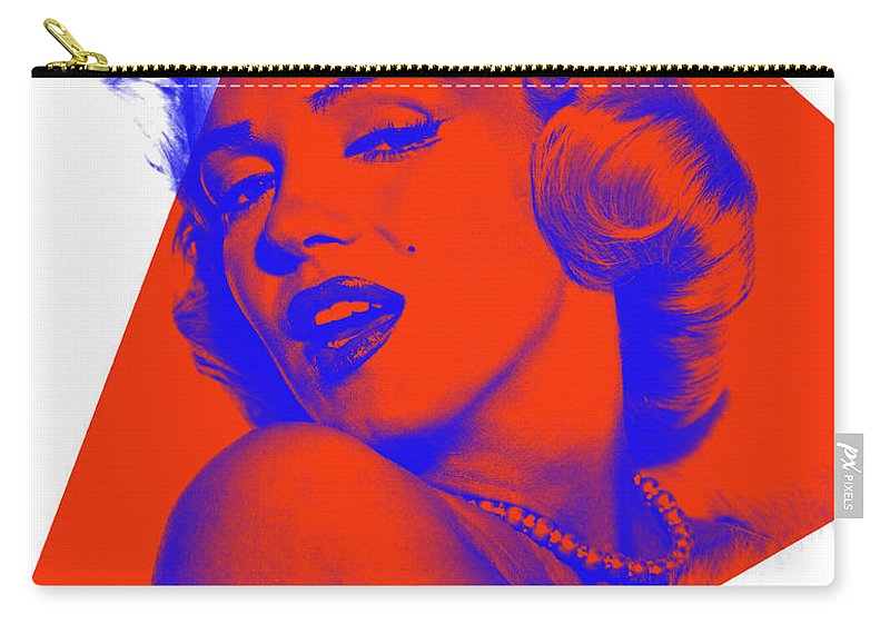 Marilyn Monroe Carry-all Pouch featuring the mixed media Marilyn Monroe Collection by Marvin Blaine