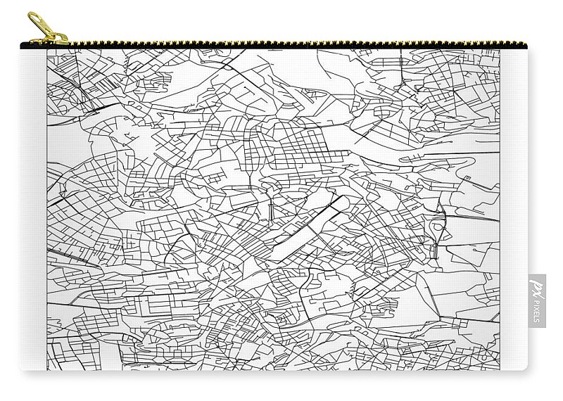 Pi Carry-all Pouch featuring the digital art On The Road With 36 Digits Of Pi 8 by Martin Krzywinski