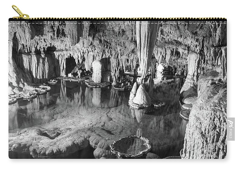 Onondaga Cave Carry-all Pouch featuring the photograph Onondaga Cave Formations by Michael Munster