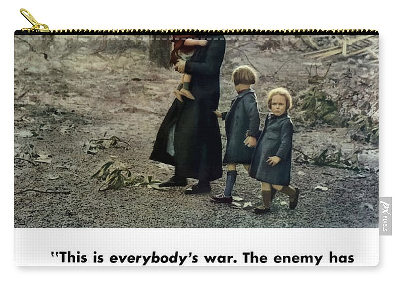 World War Ii Carry-all Pouch featuring the painting Produce For Victory by War Is Hell Store