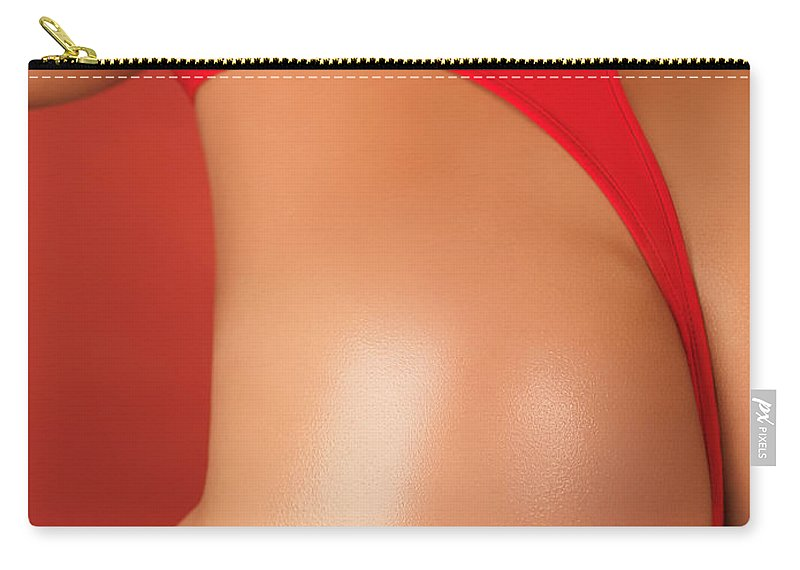 Swimsuit Carry-all Pouch featuring the photograph Sexy Young Woman In High Cut Swimsuit by Oleksiy Maksymenko