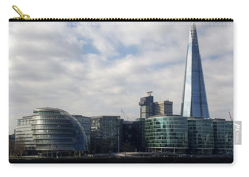 Southwark Skyline Carry-all Pouch featuring the photograph Southwark Skyline by Chris Day