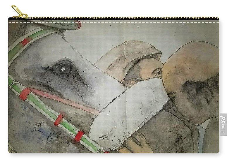 Il Palio Di Siena. Siena Italy. Horserace. Event. Medieval Carry-all Pouch featuring the painting Still Racing After 400 Yrs Album by Debbi Saccomanno Chan