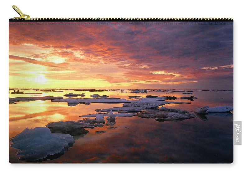 Sunset Carry-all Pouch featuring the digital art Sunset by Dorothy Binder
