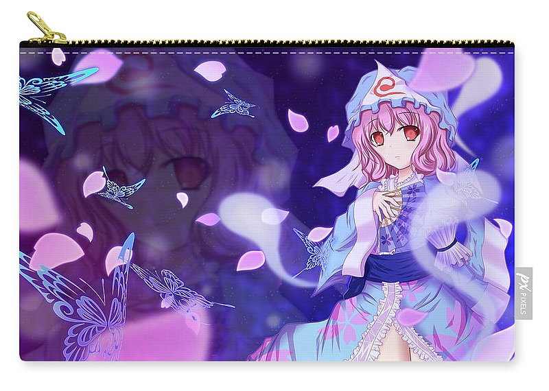 Touhou Carry-all Pouch featuring the digital art Touhou by Dorothy Binder