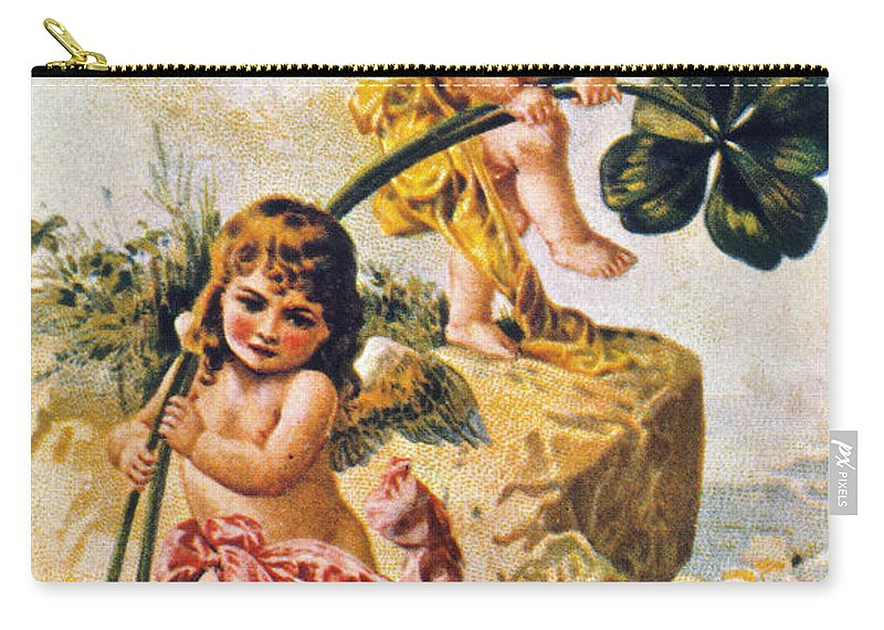 1900 Carry-all Pouch featuring the photograph Valentines Day Card by Granger