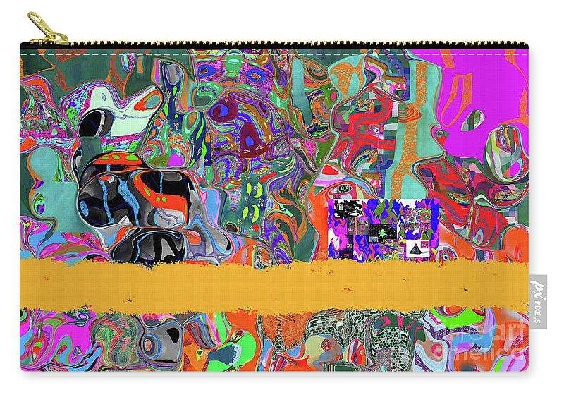 Walter Paul Bebirian Carry-all Pouch featuring the digital art 9-11-3057b by Walter Paul Bebirian