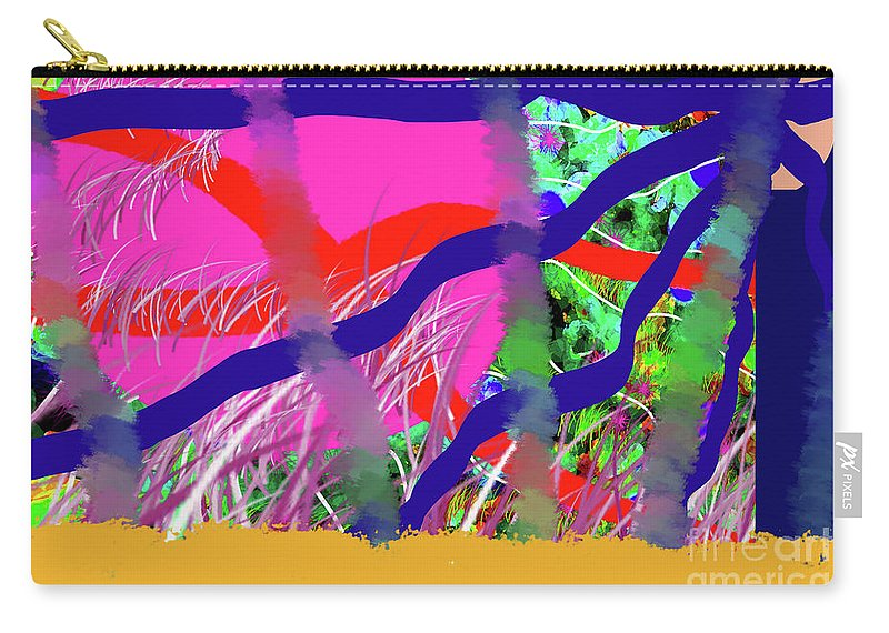 Walter Paul Bebirian Carry-all Pouch featuring the digital art 9-12-2057c by Walter Paul Bebirian