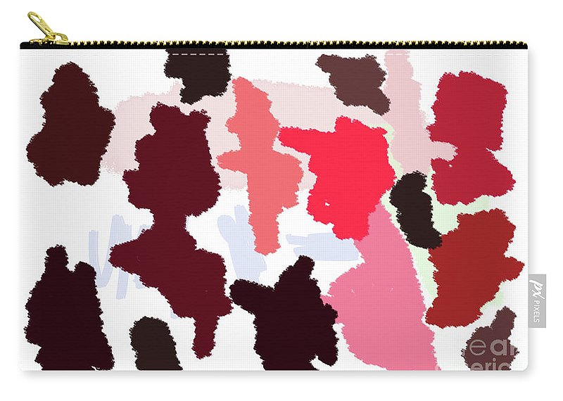 Walter Paul Bebirian Carry-all Pouch featuring the digital art 9-12-2057q by Walter Paul Bebirian
