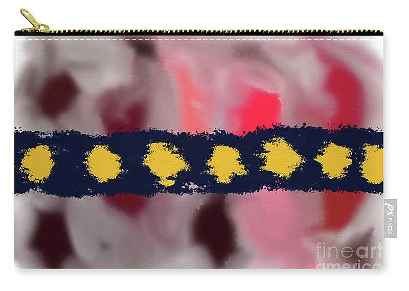 Walter Paul Bebirian Carry-all Pouch featuring the digital art 9-12-2057u by Walter Paul Bebirian
