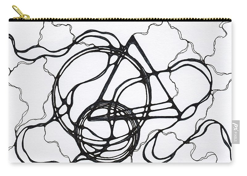 Element Carry-all Pouch featuring the drawing Abstract Pencil Pattern by Julia Tsvetkova