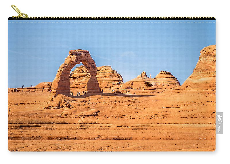 Park Carry-all Pouch featuring the photograph Arches National Park Moab Utah Usa by Alex Grichenko
