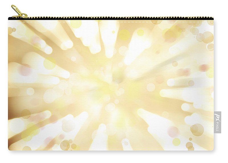Big Bang Carry-all Pouch featuring the digital art Explosive Background by Les Cunliffe