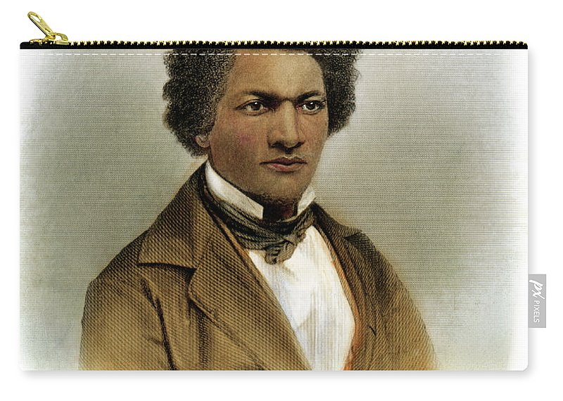1854 Carry-all Pouch featuring the drawing Frederick Douglass by Granger