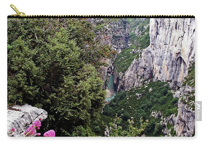 Mountains Carry-all Pouch featuring the photograph Grand Canyon Du Verdon by Christiane Schulze Art And Photography