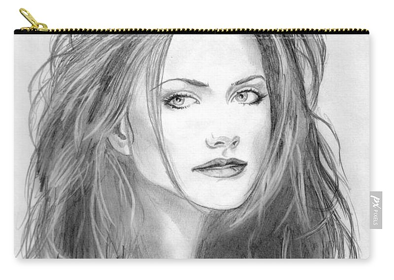 Girl Carry-all Pouch featuring the drawing 9 by Kristopher VonKaufman