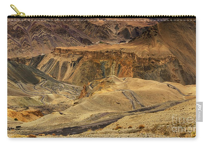 Old Carry-all Pouch featuring the photograph Moonland Ladakh Jammu And Kashmir India by Rudra Narayan Mitra