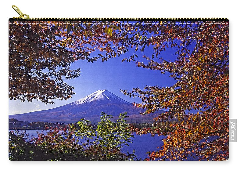 Japan Carry-all Pouch featuring the photograph Mount Fuji In Autumn by Michele Burgess